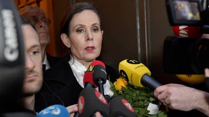 Sara Danius lämnar sin stol i Svenska Akademien efter krisen. Foto: JONAS EKSTRÖMER/TT / TT NYHETSBYRÅN