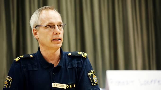 Robert Loeffel vid polisen i region Syd varnar för inbrottsligan. Foto: ANDERS ANDERSSON / SCANPIX / SCANPIX SWEDEN