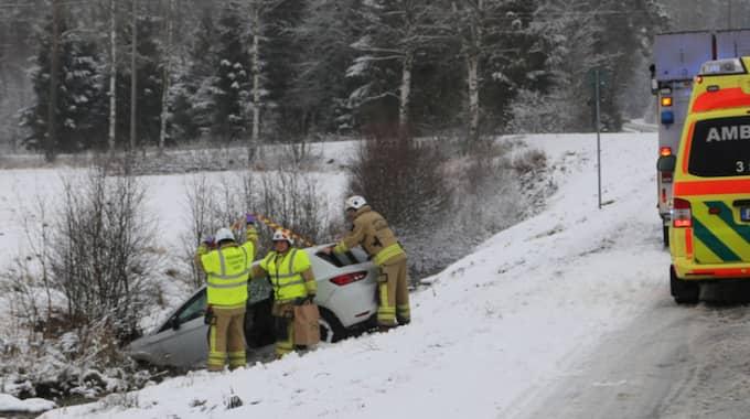 Trafikolycka i Limmared. Foto: Henrik Åslund / Hs-Foto