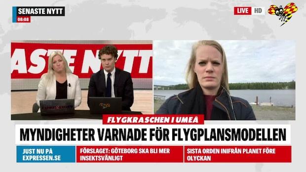 """Reporter på plats: """"Sorgen har lagt sig över hela Umeå"""""""