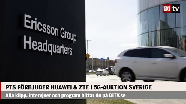 PTS förbjuder Huawei & ZTE i 5G-auktion Sverige