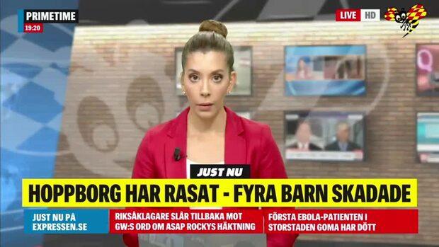 Hoppborg har rasat i Kiviks marknad – fyra barn skadade