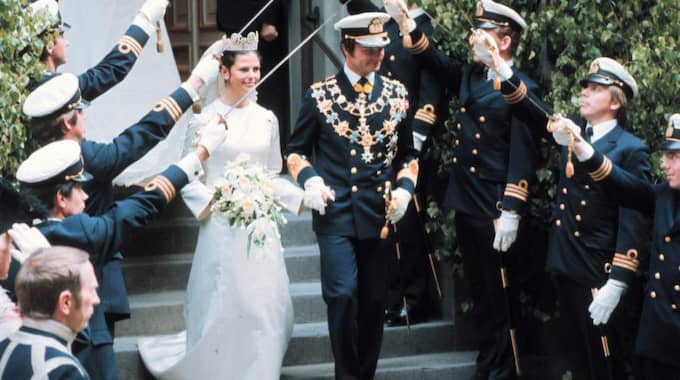 När kungen och drottningen gifte sig 19 juni 1976 sändes det i SVT. Foto: Jacob Forsell