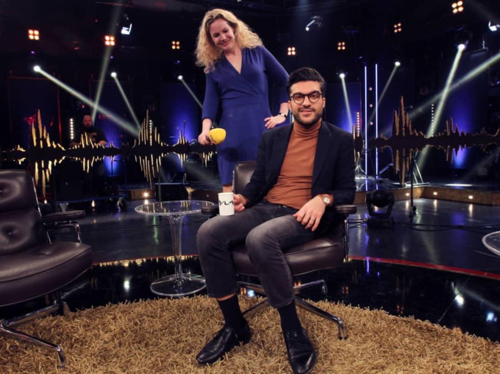 """För Karin Sörbring berättar Fardaneh om farhågorna och självkritiken inför """"Skavlan jr"""". Foto: Cornelia Nordström"""