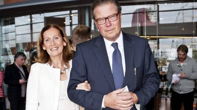 Leif Johansson, styrelseordförande för Ericsson och Astra Zeneca, tillsammans med hustrun Eva Johansson. Foto: Lisa Irvall