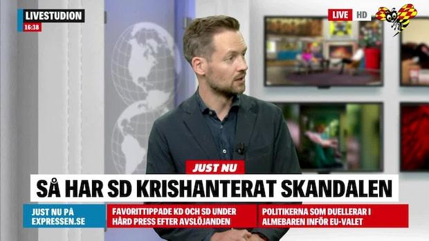 David Baas om SD:s krishantering