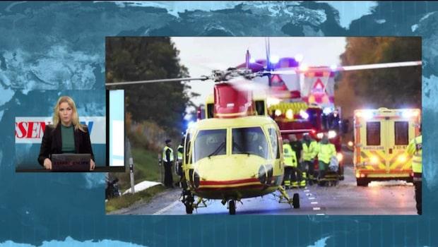 Bilar i våldsam kollision – fyra skadade