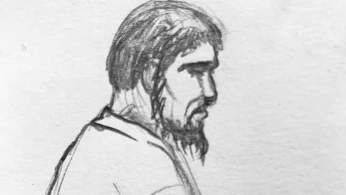Rakhmat Akilov i rättssalen. Foto: Helen Rasmusen