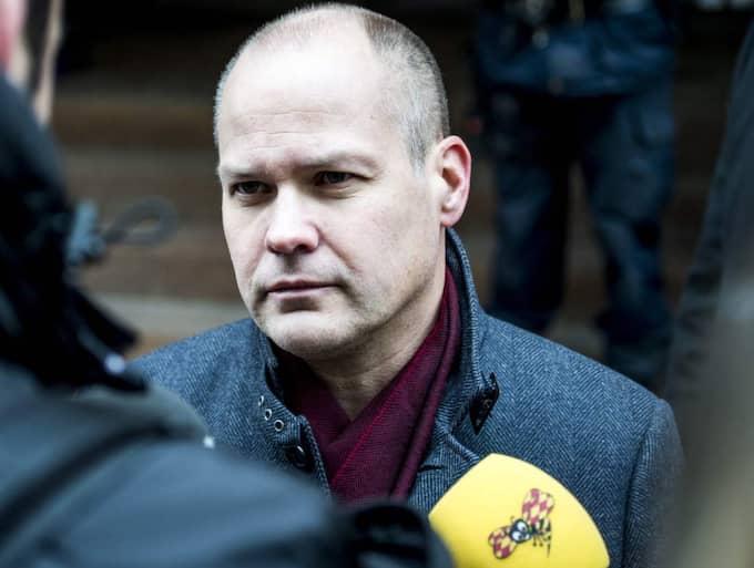 Morgan Johansson, S, justitieminister: – Det är ett avskyvärt illdåd, och jag hoppas att de skyldiga kan gripas. Foto: Tomas Leprince