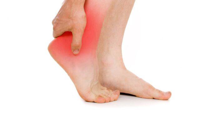 ont under foten på morgonen