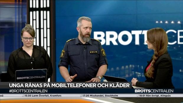 """Johan Heed om ungdomsrånen: """"Riktigt jäkla illa"""""""