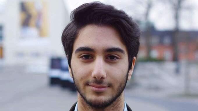 Soroush Rezai, 2:e vice ordförande för Liberala Ungdomsförbundet Väst. Foto: PRESSBILD