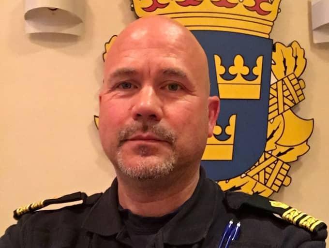 Patrik Sverin, biträdande lokalpolischef i Botkyrka söder om Stockholm.