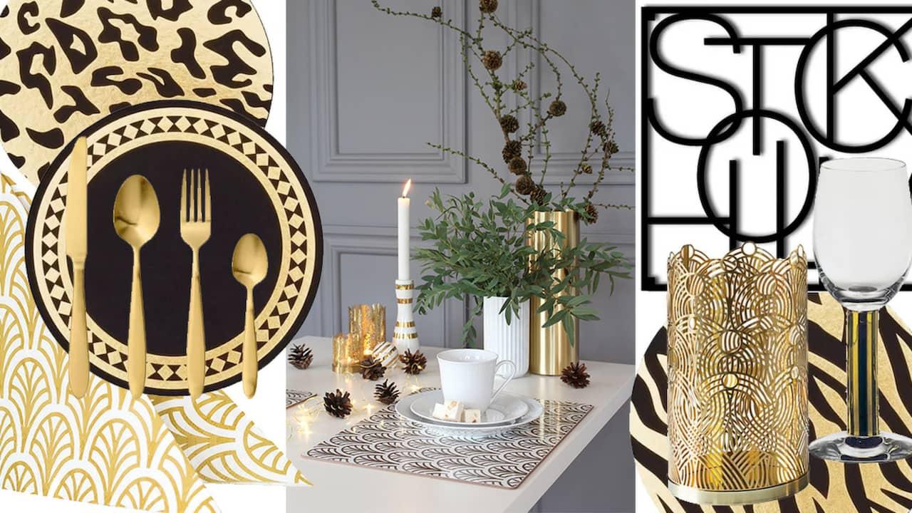 Duka i svart och guld – LEVA&BO Shopping