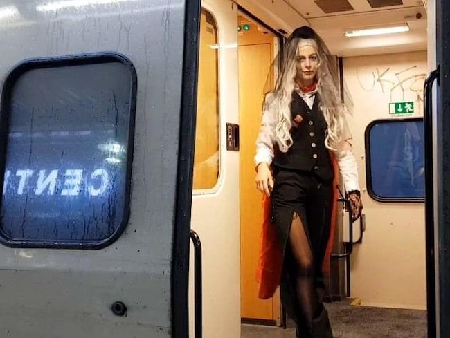 Även tågresan till nöjesparken i Göteborg kan bli kuslig.