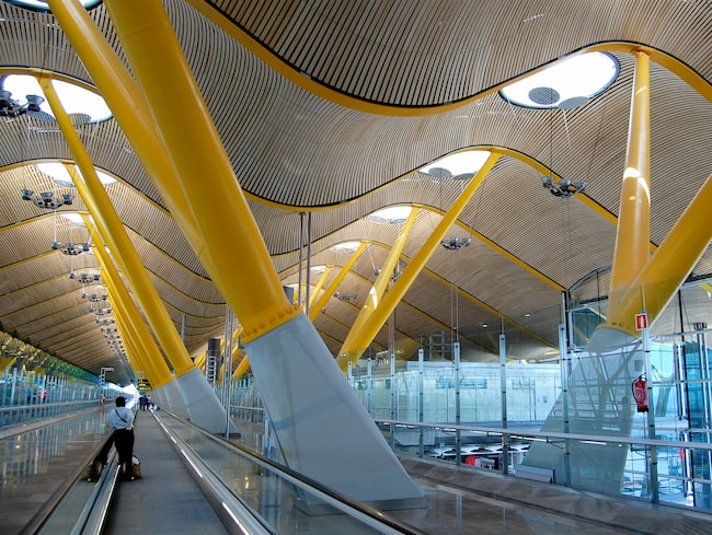 Madrid-Barajas, Spaniens största flygplats.