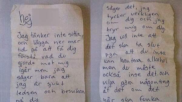 Dejting brev till sin pojkvän