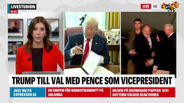 Trump fortsätter med Pence som vicepresident