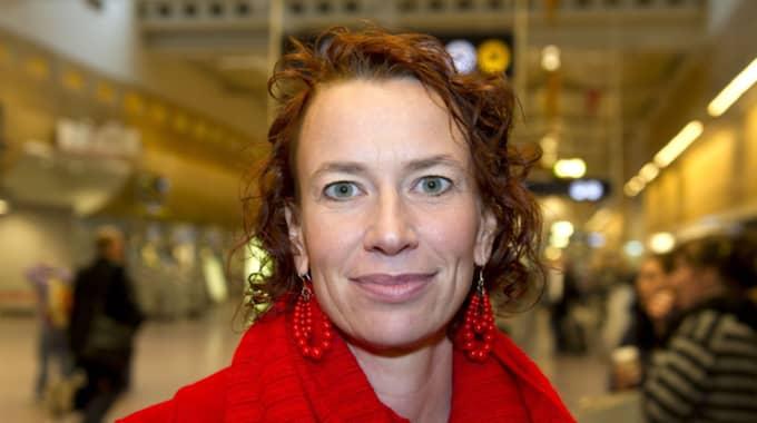 """V-ledamoten Christina Höj Larsen, kallade under måndagens debatt lagen för en skam och en """"skitlag"""". Foto: Tommy Pedersen"""