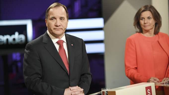 Stefan Löfven (S) och Isabella Lövin (MP9. Foto: MAJA SUSLIN/TT