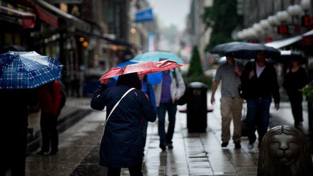Regnet sprider sig norrut under helgen