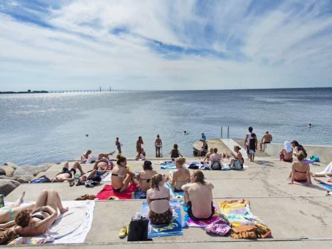 BADFÖRBUD! Västra hamnen. Foto: Ludvig Thunman