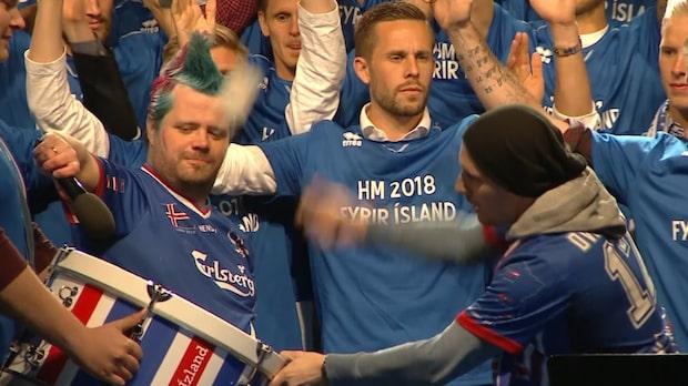 Island firar VM-platsen