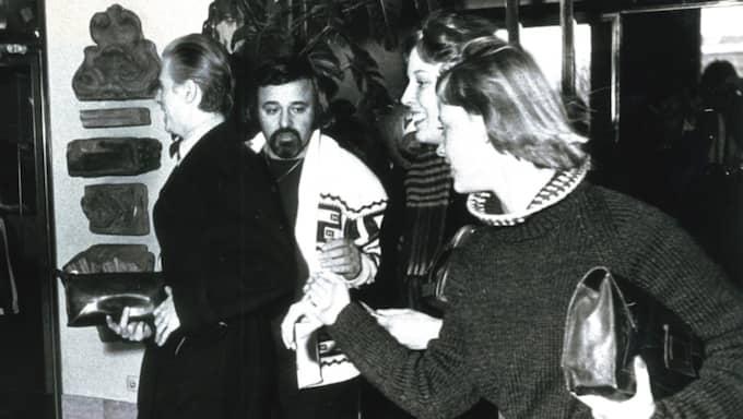 Bowie jagas efter ett besök i Sverige 1972. Foto: Peter Diedrich