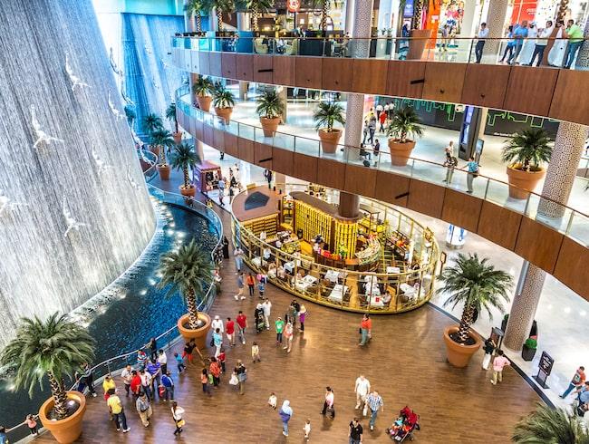 Världens största shoppinggalleria ligger i Dubai.