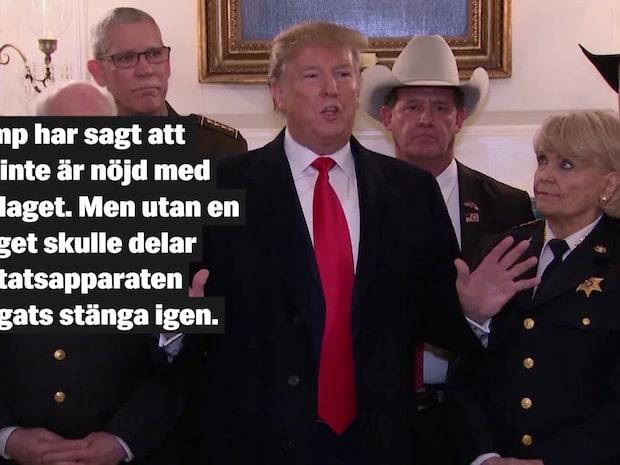 Trump utlöser nödläge – för att bygga muren