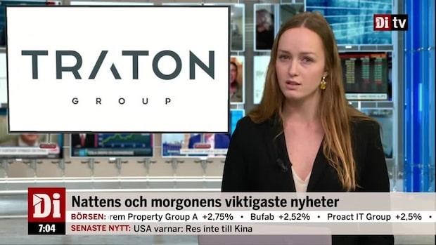 Di Morgonkoll: Scaniabolaget lägger mångmiljardbud på Volvokonkurrenten