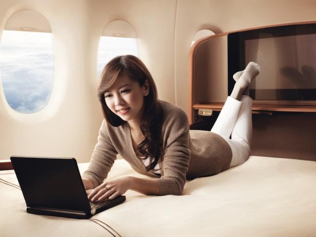 Singapore Airlines är först med att kunna slå ihop två intilliggande sviter och förvandla dem till en dubbelsäng.