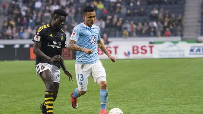 AIK mot Malmö i allsvenskan. Foto: JOHANNA LUNDBERG / BILDBYRÅN