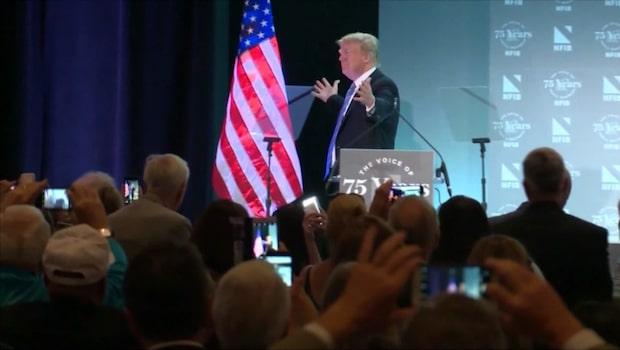 Trumps agerande med flaggan väcker kritikstorm