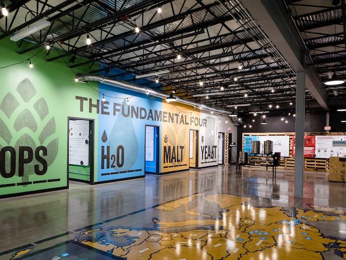 På museet kan man lära sig allt om ölets historia och dess fyra grundläggande ingredienser.