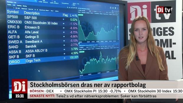 Di nyheter 15:30 - Ericsson dyker på börsen