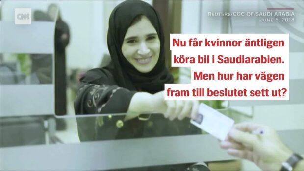 Nu får kvinnor köra bil i Saudiarabien