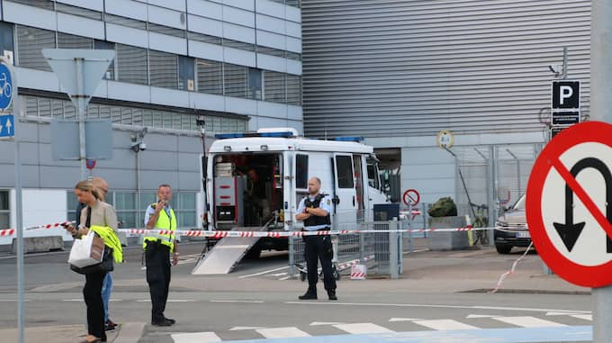 En terminal på Kastrups flygplats har spärrats av. Foto: Mathias øgendal