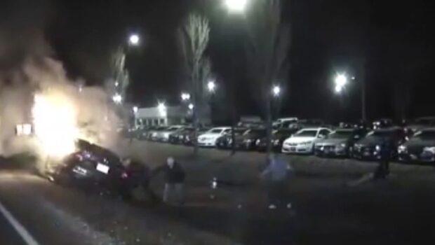 Han riskerade sitt liv - drog ut rattfull förare från brinnande bil