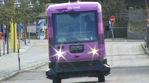 Är det här framtidens buss som kommer rullandes?