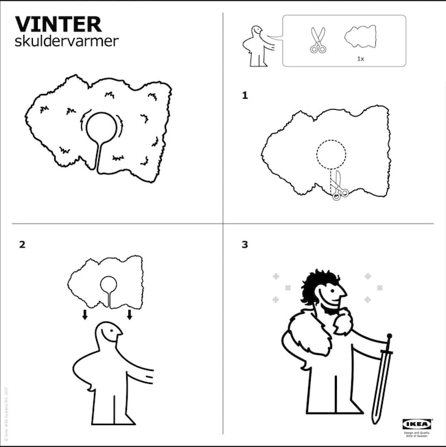 En klassisk Ikea-manual, i Game of Thrones-tappning.