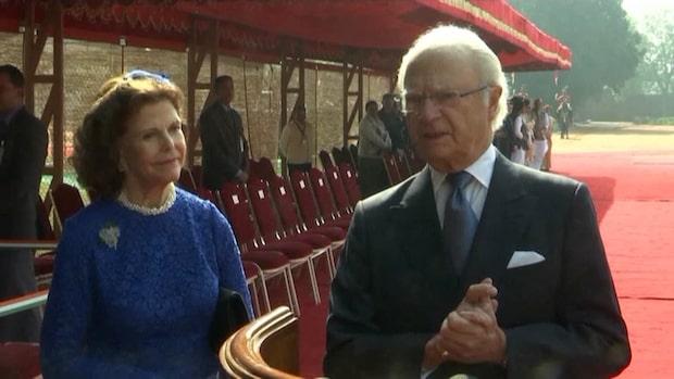 Kungen och drottningen besöker Indien