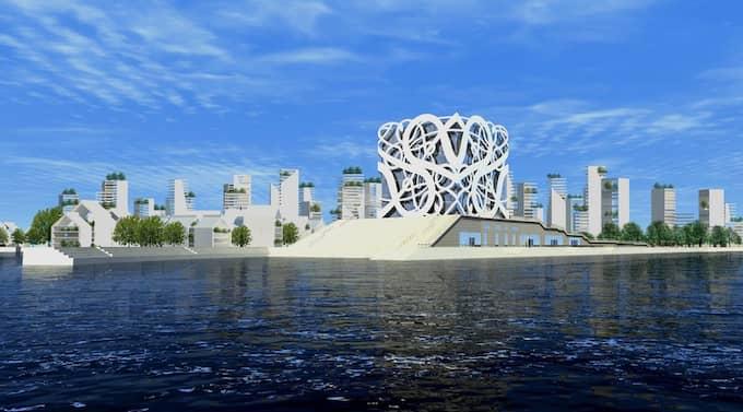LOCKAR NYA. GT kräver att man ska bygga något som slår världen med häpnad. Något som får våra unga att stanna och nya att hitta hit. Förslagen om Viking Green City skulle innebära plats för minst 7 000 bostäder. Illustration: CULLBERGS ARKITEKTKONTOR