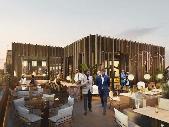 Restaurangen kommer att ligga på 16:e våningen i hörnet av Mäster Samuelsgatan och Malmskillnadsgatan i Stockholm.