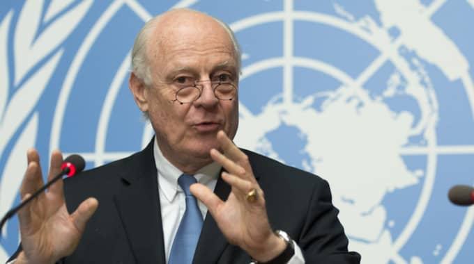 FN:s sändebud Staffan de Mistura. Foto: Martial Trezzini/AP