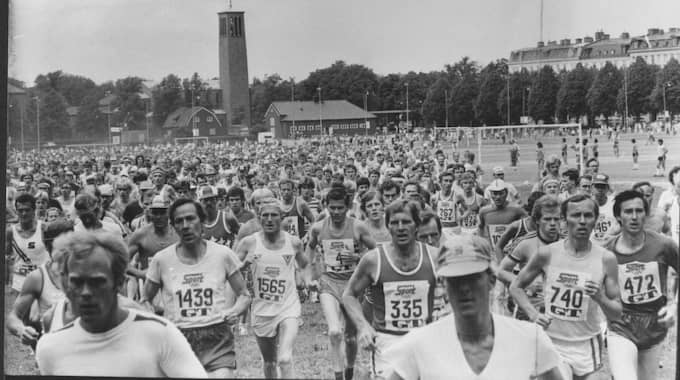 Premiären. Första starten av Göteborgsvarvet den 7 juni 1980 från Heden i Göteborg. Foto: Leif Gustafsson