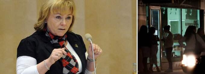 Beatrice Ask vill se skärpta straffen för sexköp. Foto: Roger Vikström och Jan Düsing