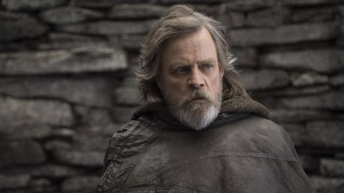 "Mark Hamill som Luke Skywalker i Star Wars ""The last jedi"". Foto: JOHN WILSON / AP TT NYHETSBYRÅN"