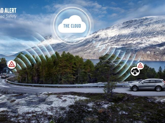 Nu kan Volvos bilar kommunicera med varandra för att varna för faror längre fram.