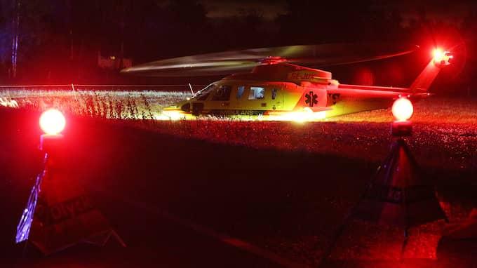 Två personer är allvarligt skadade. Foto: Robert Betzehag / Rescue Photo